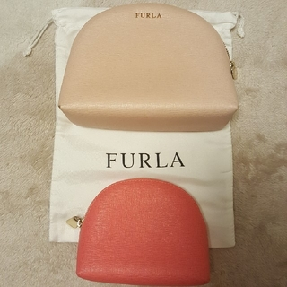 Furla - FURLAフルラ ポーチ ライトピンク×ピンク2点セット