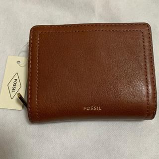 FOSSIL - 【新品未使用】フォッシル 二つ折りウォレット ブラウン