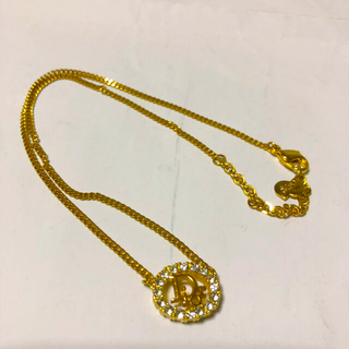 クリスチャンディオール(Christian Dior)のクリスチャンディオル ゴールド ネックレス 美品(ネックレス)