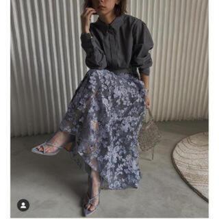 Ameri VINTAGE - AmeriアメリヴィンテージLACE LAYERED SHIRT DRESS