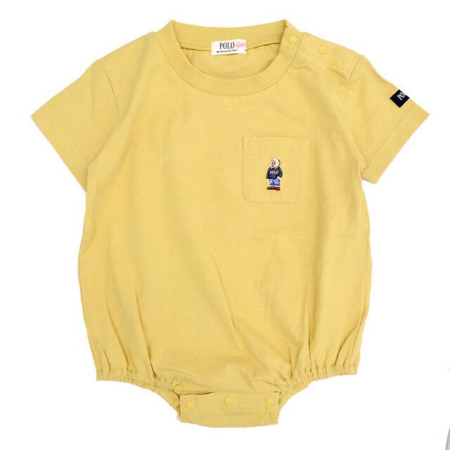 POLO RALPH LAUREN(ポロラルフローレン)のポロベア ロンパース 80cm yellow キッズ/ベビー/マタニティのベビー服(~85cm)(ロンパース)の商品写真