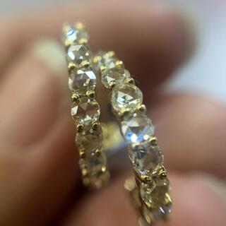 🌼ローズカット ダイヤモンド ピアス🌼