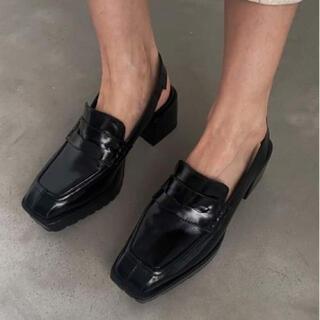 アメリヴィンテージ(Ameri VINTAGE)のAmeri SQUARE LOAFER SANDALS 新品 新作(ローファー/革靴)