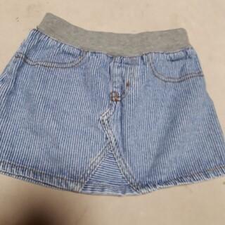 スキップランド(Skip Land)の美品 スキップランド 女の子110デニムスカート(スカート)