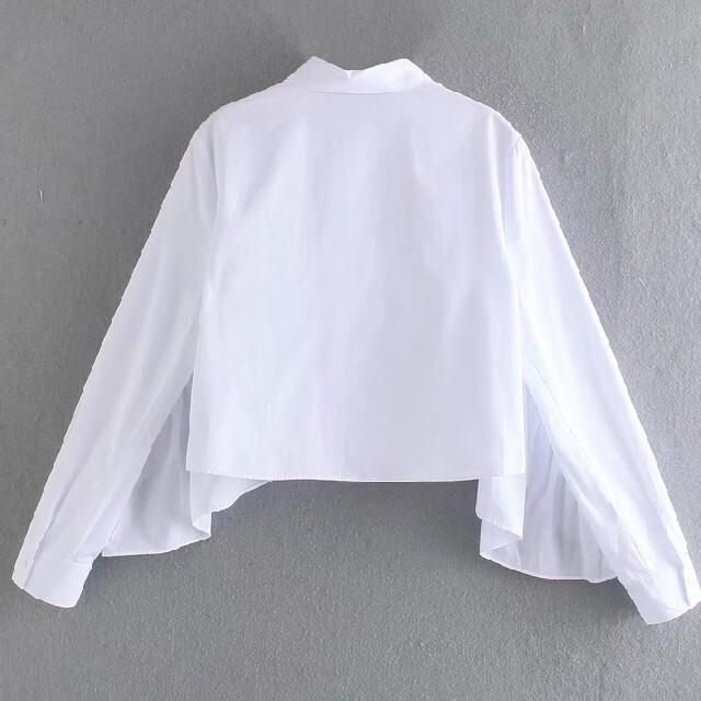 フリル袖 ボリューム シャツ ブラウス レディースのトップス(シャツ/ブラウス(長袖/七分))の商品写真