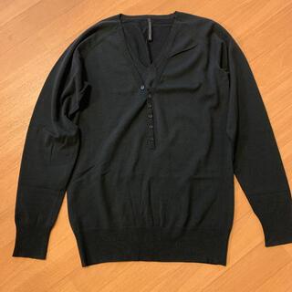 ブラックバレットバイニールバレット(BLACKBARRETT by NEIL BARRETT)のニールバレット コットン ニット Vネックセーター 美品(ニット/セーター)