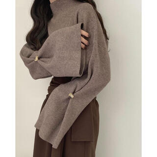 Kastane - lawgy sleeve button knit