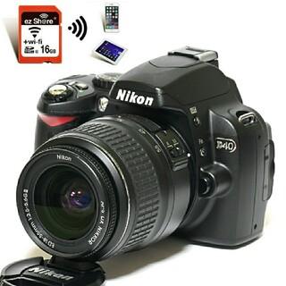 Nikon - 【Nikon】Wi-Fi転送★ショット数わずか「2514回」!D40レンズキット