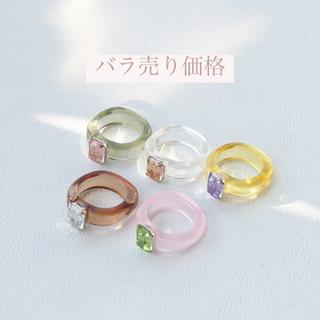 アメリヴィンテージ(Ameri VINTAGE)のリング カラフル クリア(リング(指輪))