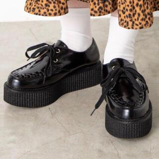 ウィゴー(WEGO)のWEGO ラバーソールシューズ 黒 L(ローファー/革靴)