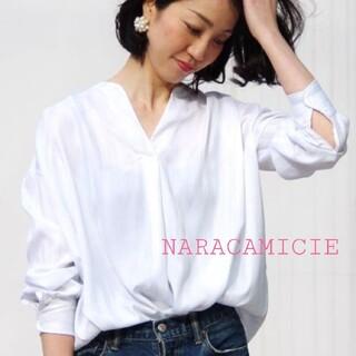 NARACAMICIE - 【未使用に近い】ナラカミーチェ★春 ランダムストライプ プルオーバーⅠ