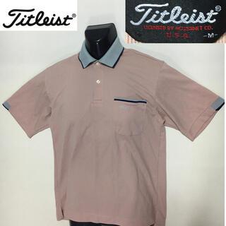 タイトリスト(Titleist)のタイトリスト ゴルフ スポーツシャツ ポロシャツ あずき色 Mサイズ(ウエア)