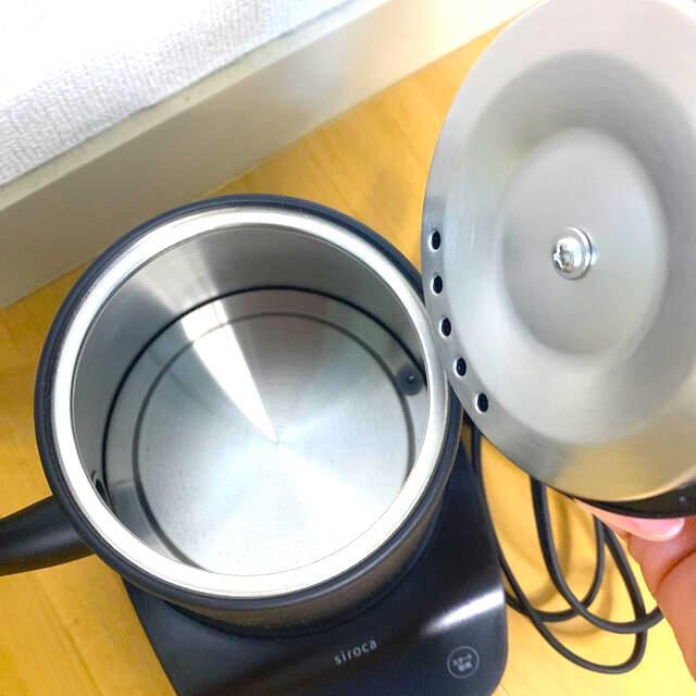siroca 温度調節電気ケトル SK-D171 ブラック スマホ/家電/カメラの生活家電(電気ケトル)の商品写真