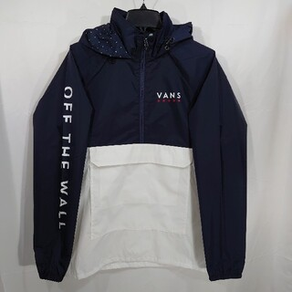 VANS - 【L】VANS バンズ/アノラックパーカー/VICTORY ANORAK/紺×白