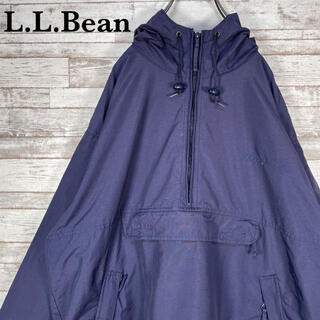 エルエルビーン(L.L.Bean)の【古着】70s 80s エルエルビーン オーバーサイズ アノラックパーカー L(ナイロンジャケット)