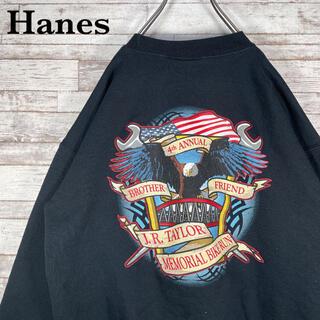 ヘインズ(Hanes)の【古着】Hanes ヘインズ イーグル ビッグプリント スウェット トレーナー(スウェット)