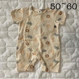 futafuta - バースデイ フタフタ ジェラピケ風 アニマル柄 カバーオール 50 60