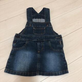 MUJI (無印良品) - 無印良品 デニムジャンパースカート 90サイズ 女の子