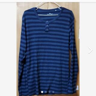 メンズボーダー柄長袖Tシャツ(Tシャツ/カットソー(七分/長袖))