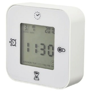 IKEA - 【激安送料込み】新品 IKEA 時計  KLOCKIS クロッキス 白 ホワイト