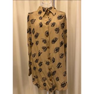 Vivienne Westwood - 美品ヴィヴィアンウエストウッド落書きプリントシルクシャツ