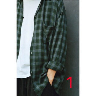 COMOLI - COMOLI 20SS レーヨン オープンカラーシャツ GREEN 1