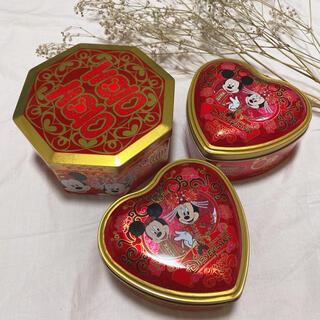 Disney - 香港購入《ディズニーランド》お菓子の缶 ミッキー ミニー