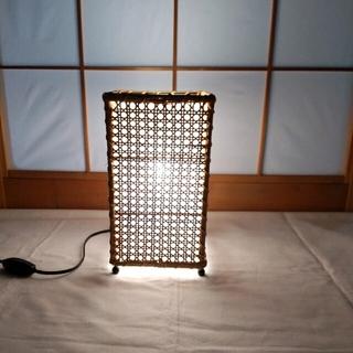 ニトリ(ニトリ)のテーブルランプ 和室ランプ 和風 竹 あんどん 廊下ランプ 和室電気 ランプ(テーブルスタンド)