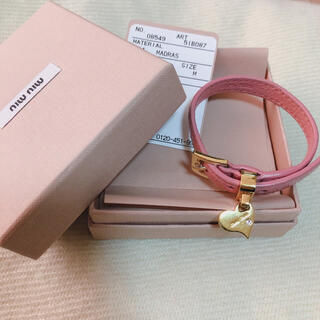 miumiu - ミュウミュウ ブレスレット  ハート miumiu ピンク