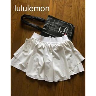 ルルレモン(lululemon)のルルレモン lululemon スパッツ付レイヤードスカート 8(ウェア)
