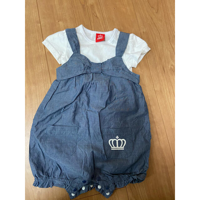 BABYDOLL(ベビードール)のベビー服 80センチ キッズ/ベビー/マタニティのベビー服(~85cm)(ロンパース)の商品写真