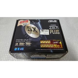 エイスース(ASUS)の美品 ASUS Z97I-PLUS 最新BIOS更新 付属品多数 miniitx(PCパーツ)