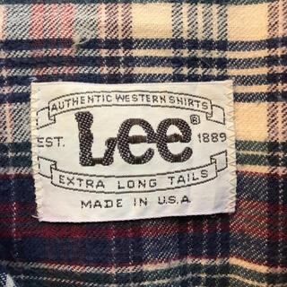 Lee - 激レア美品!70年代Lee白タグUSA製SCOVILL社製ボタンウエスタンシャツ