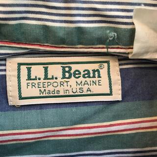 エルエルビーン(L.L.Bean)の激レア!70年代初期米国製L.L.Bean半袖マルチストライプボタンダウンシャツ(シャツ)