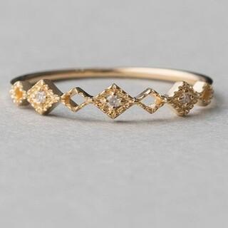 ete - エテ K10 ダイヤモンド リング 9号 ウォーターマーク 透かし ミル 美品