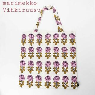 marimekko - マリメッコ ファブリック トートバッグ エコバッグ  ヴィヒキルース