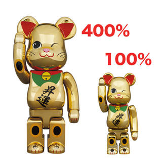 MEDICOM TOY - 新品未使用 BE@RBRICK 招き猫 昇運 金メッキ 弐 400%&100%