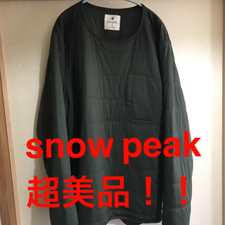 スノーピーク(Snow Peak)のsnow peak frexible insuleted pullover 美品(その他)