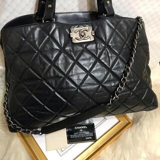 CHANEL - ボーイシャネル♡CHANEL♡ブラック♡正規品♡本物♡黒 チェーンバッグ