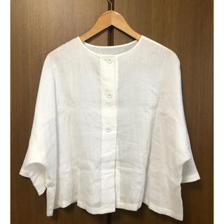ルグラジック(LE GLAZIK)のle glazik リネンクロス 2WAY プルオーバーシャツ ブラウス(シャツ/ブラウス(長袖/七分))