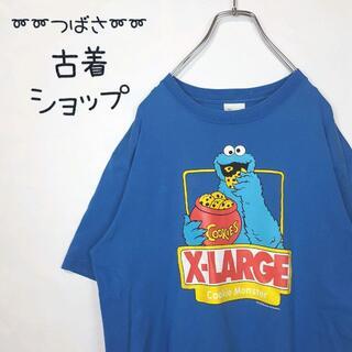 XLARGE - 【大人気!!】X-LARGE セサミストリート 古着 デカロゴ コラボ 青