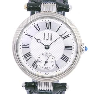 ダンヒル(Dunhill)のダンヒル スモールセコンド     K18ホワイトゴールド レザー(腕時計(アナログ))