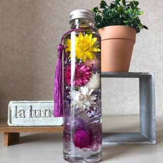 ハーバリウム 仏花 丸瓶1本(その他)