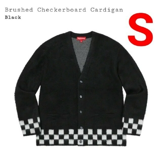 Supreme - Supreme Brushed Checkerboard Cardigan 黒