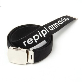 repipi armario - 【新品】repipi armario ロゴガチャベルト 黒