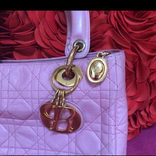クリスチャンディオール(Christian Dior)のDior レディディオール ハンドバッグ 最終値下げラム革(ハンドバッグ)