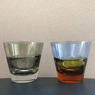 スガハラ(Sghr)のduo(デュオ)オールド カーボンブラック&アンバー(グラス/カップ)