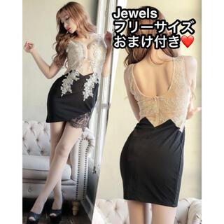 JEWELS - 新品未使用品♡Jewelsフラワーレースシアードレス ミニドレス フリーサイズ