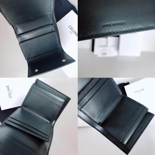 celine(セリーヌ)のCELINE エンボスド スムーススモール トリフォールドウォレット エンボスド レディースのファッション小物(財布)の商品写真