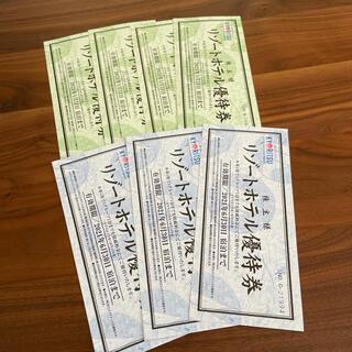 共立リゾートホテル優待券(宿泊券)